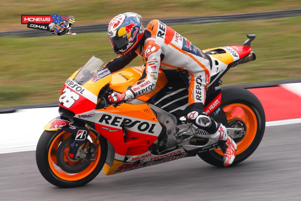 A simply sensational lap from Dani Pedrosa sees him claim his first pole of 2015 ahead of Marquez and Rossi, with Lorenzo in fourth.