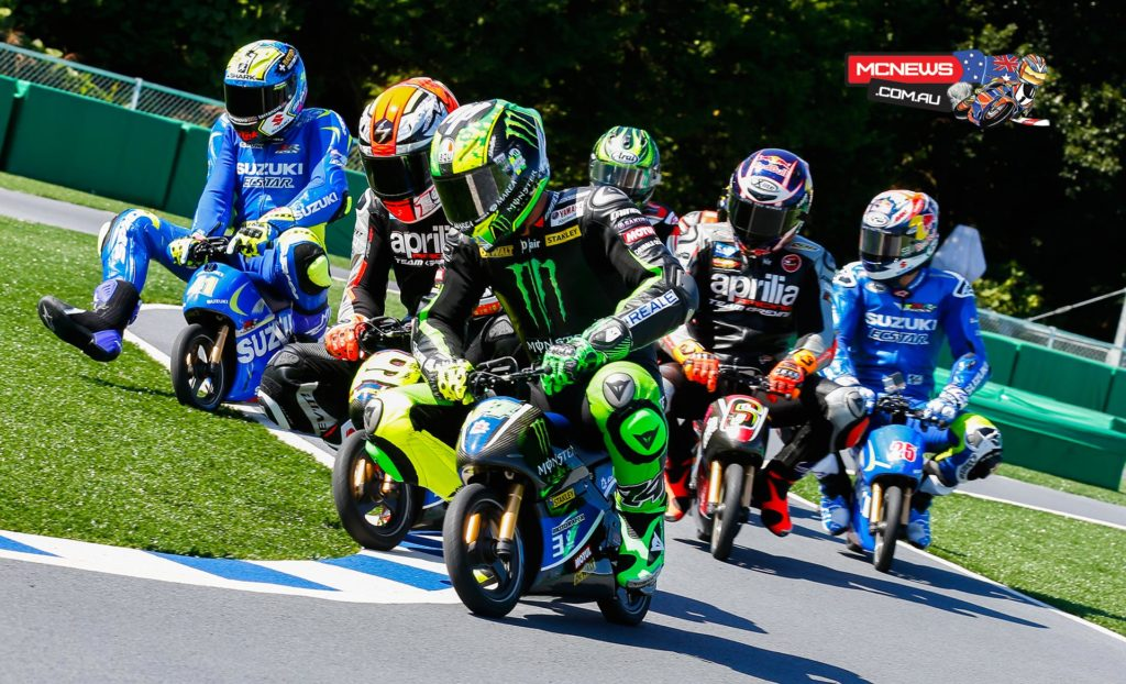 A number of riders got involved in some racing action on Thursday before the on-track action officially starts in Japan as they took part in an electric mini bike race back in 2015