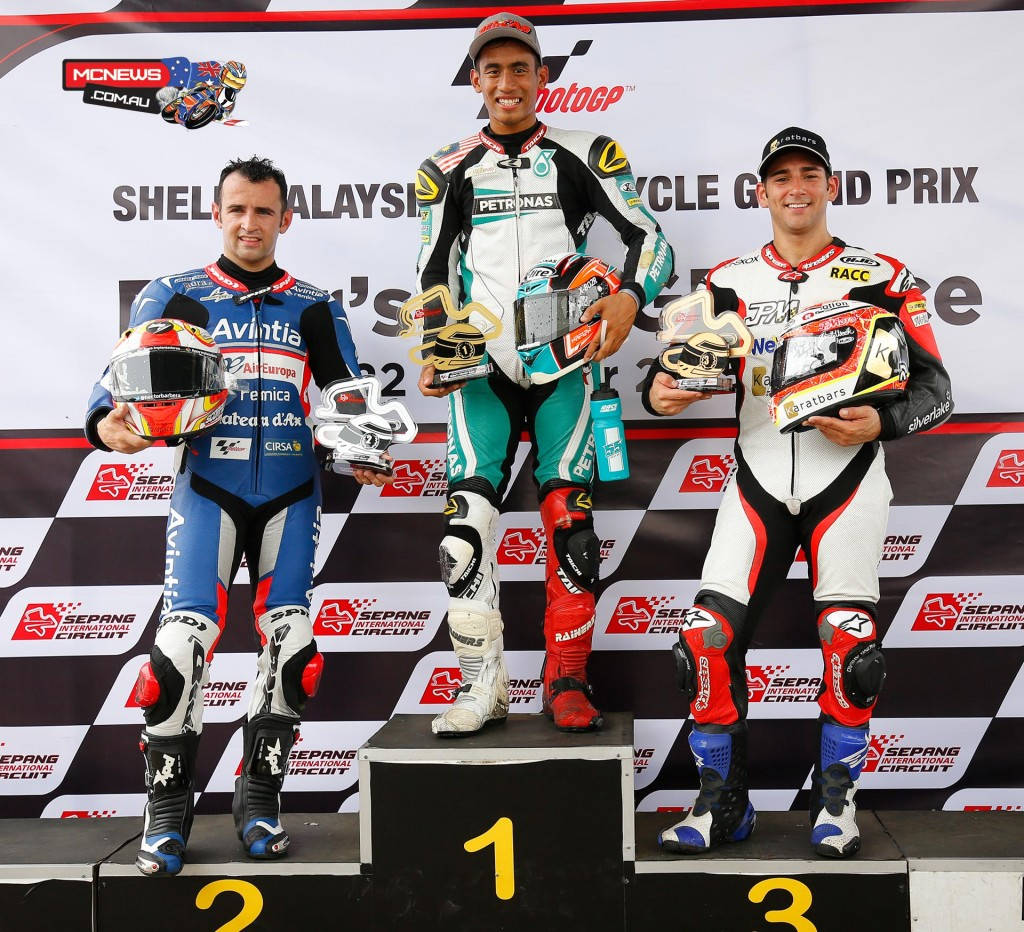Shell Malaysia Motorcycle Grand Prix on Thursday 20 riders took to the Sepang International Go Kart Circuit for the annual Mini Bikes race - Hafizh-Syahrin won from Barbera and Cardus
