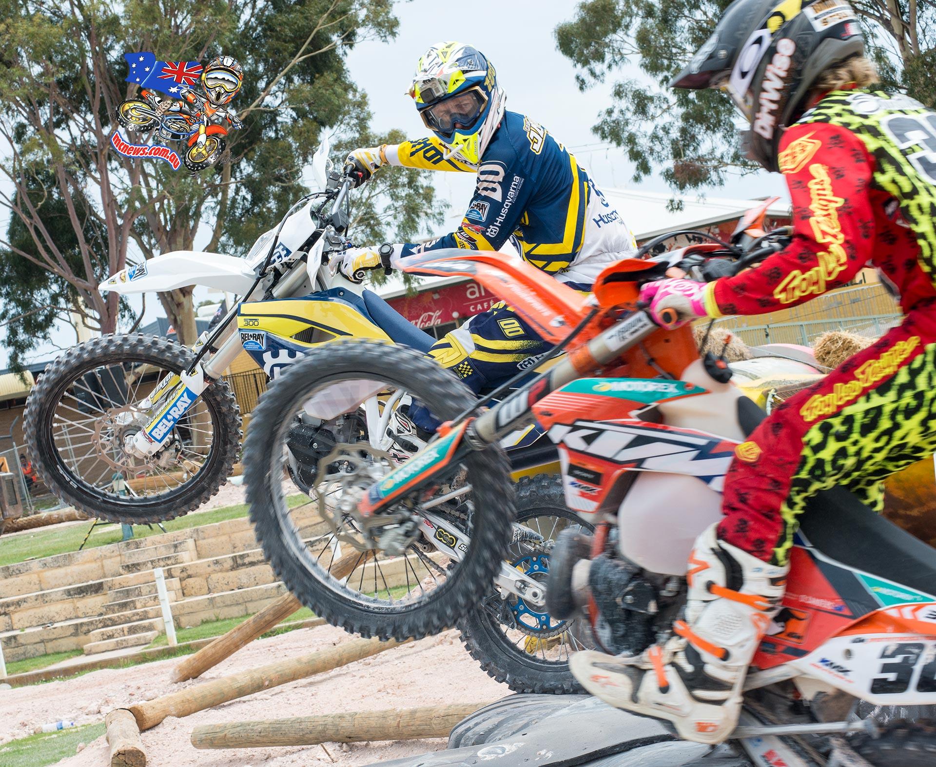 Perth International Enduro Cross 2015 - Graham Jarvis and Daniel Sanders