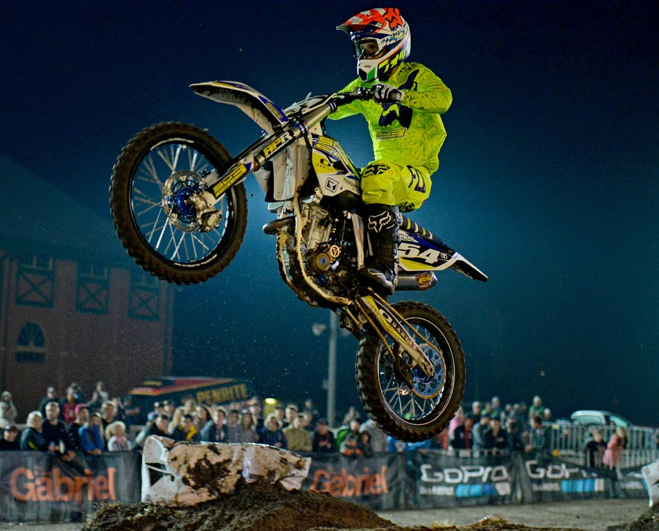 Husqvarna Factory Support racer Luke Arbon (above) showed his recovery to full health is well on track with a scintillating third place in the opening round of the Australian SX two championship at Bathurst.