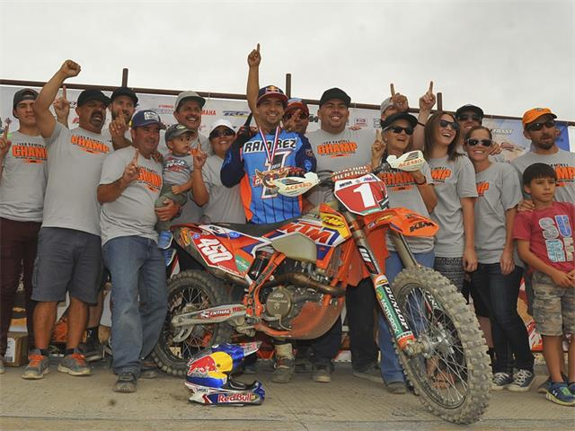 With a seventh place finish at the AMA National Hare and Hound season finale Factory KTM's Ivan Ramirez took home the number one plate. Photography by Mark Kariya