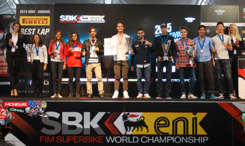 WIth the end of the European WorldSBK campaign, it was prize giving time for the stars of this year's FIM Superstock 1000 Cup, FIM Europe Superstock 600 Championship, PATA European Junior Cup, powered by Honda and Women's cup.