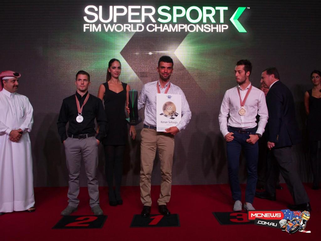 Patrick Jacobsen (CORE'' Motorsport Thailand Honda) and Lorenzo Zanetti (MV Agusta Reparto Corse) joined Kenan Sofuoglu (Kawasaki Puccetti Racing) as the World Supersport top three for this year.