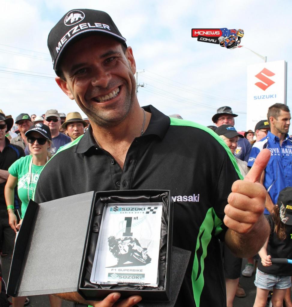 2014 Suzuki Series champion Horst Saiger, from Leichenstein