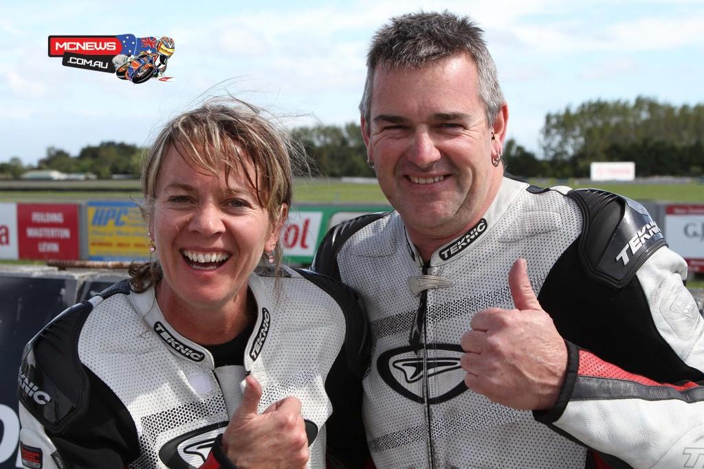 2014 NZ Suzuki Series Sidecar Champions Tracey Bryan and Aaron Lovell