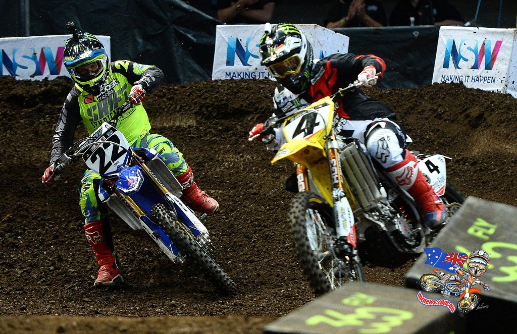 The nostalgic showdown between Chad Reed and Ricky Carmichael was reignited, with Reed defeating his idol again after a late race dive on the final lap secured him the win in their 3 lap, head-to-head battle.