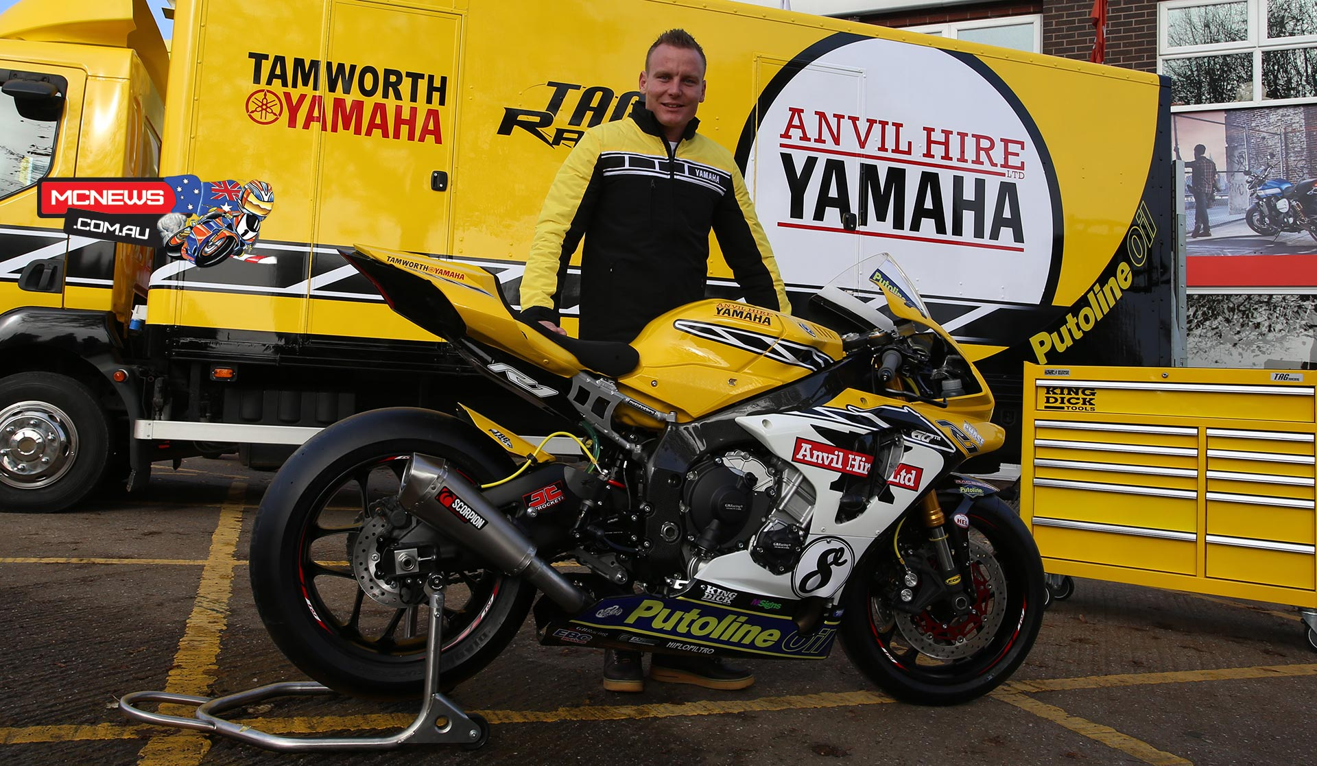 Billy McConnell on Yamaha for BSB 2016