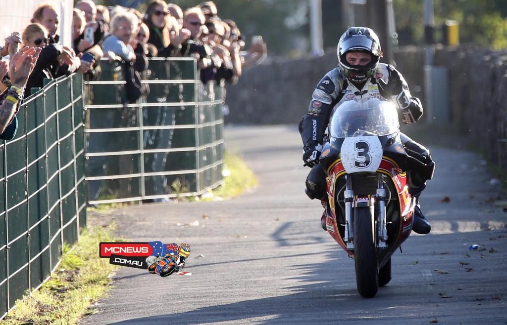 Classic TT 2015 F1 race winner Michael Dunlop (1200cc Suzuki)