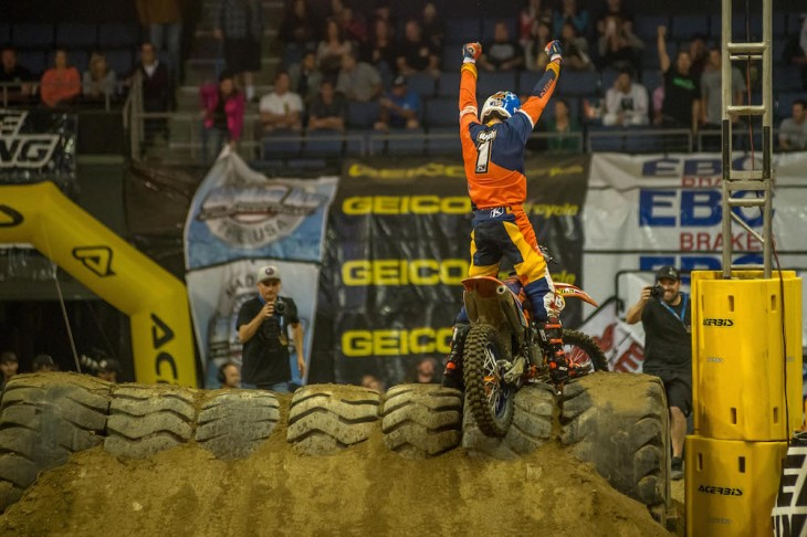 2015 GEICO AMA EnduroCross Champion came down to the final race at Citizen's Bank Arena in Ontario, California last weekend and defending champ Cody Webb held on to keep the number-one plate for at least another year.