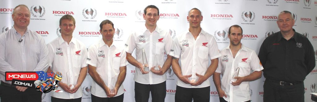 Finalists Bryce Thompson (NSW/ACT), Gavin Goodman (QLD), Tom Ames (SA/NT), Troy Winzer (VIC/TAS) and Derek Visser (WA) received an exciting finalist prize, which included a trip to Melbourne to attend the 2015 Australian MotoGP as Honda VIP guests.