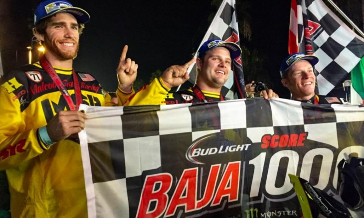 Colton Udall, Mark Samuels and Justin Jones have taken the win at the 2015 Baja 1000