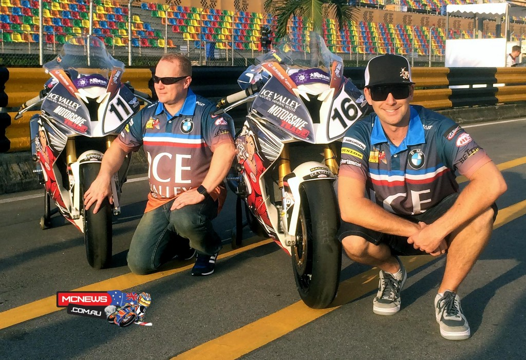 David Johnson at the Macau Grand Prix with Ice Valley team mate Paul Shoesmith