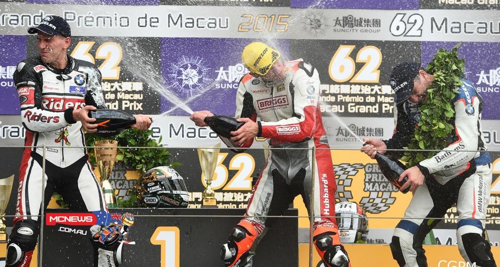 Macau Grand Prix 2015 - Peter Hickman took the win ahead of Martin Jessopp and Michael Rutter to make an all BMW podium