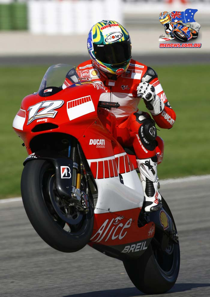 Troy Bayliss won the Valencia MotoGP final in 2006