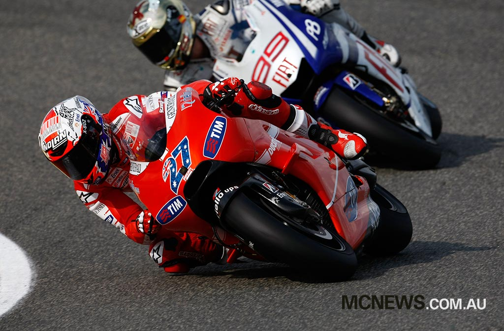 Casey Stoner finished second at Valencia in 2010, generally not a strong circuit for the Ducati Desmosedici