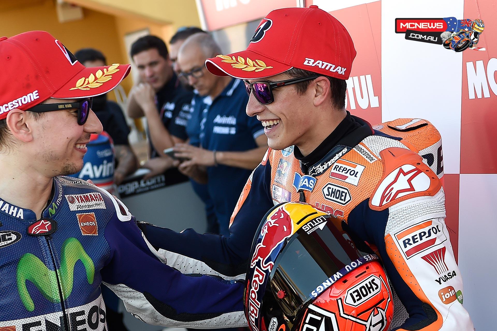 Marc Marquez and Jorge Lorenzo