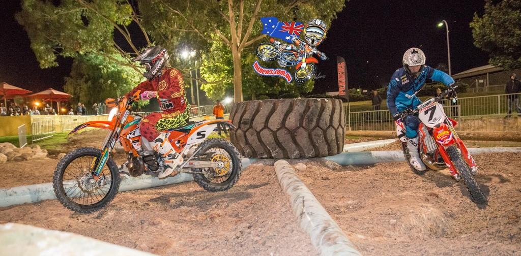 Perth International Enduro Cross 2015 - Daniel Sanders ahead of Kyle Redmond