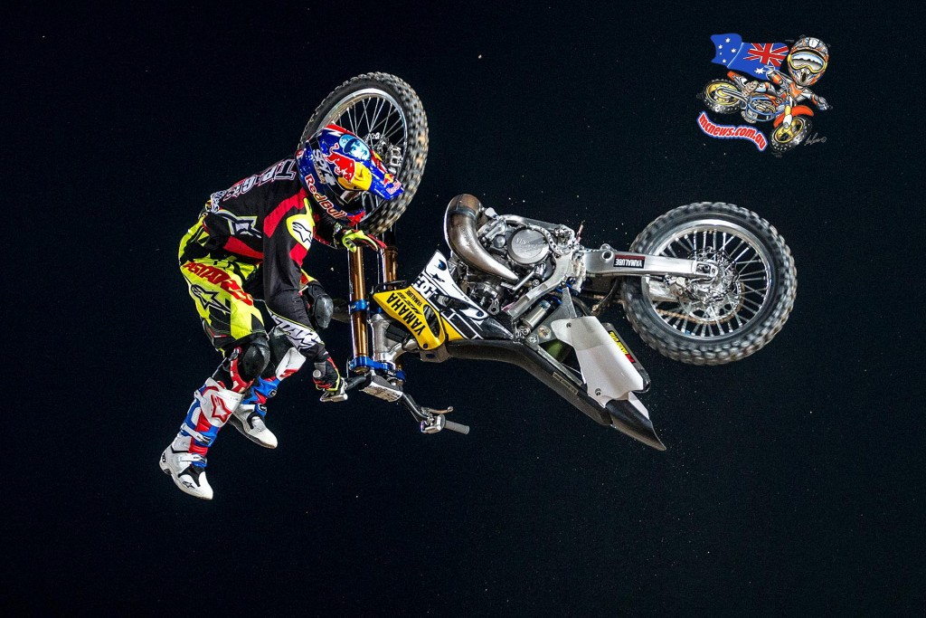 Tom Pagès of France performs at the final stage of the Red Bull X-Fighters World Tour in Abu Dhabi, United Arab Emirates on October 30, 2015