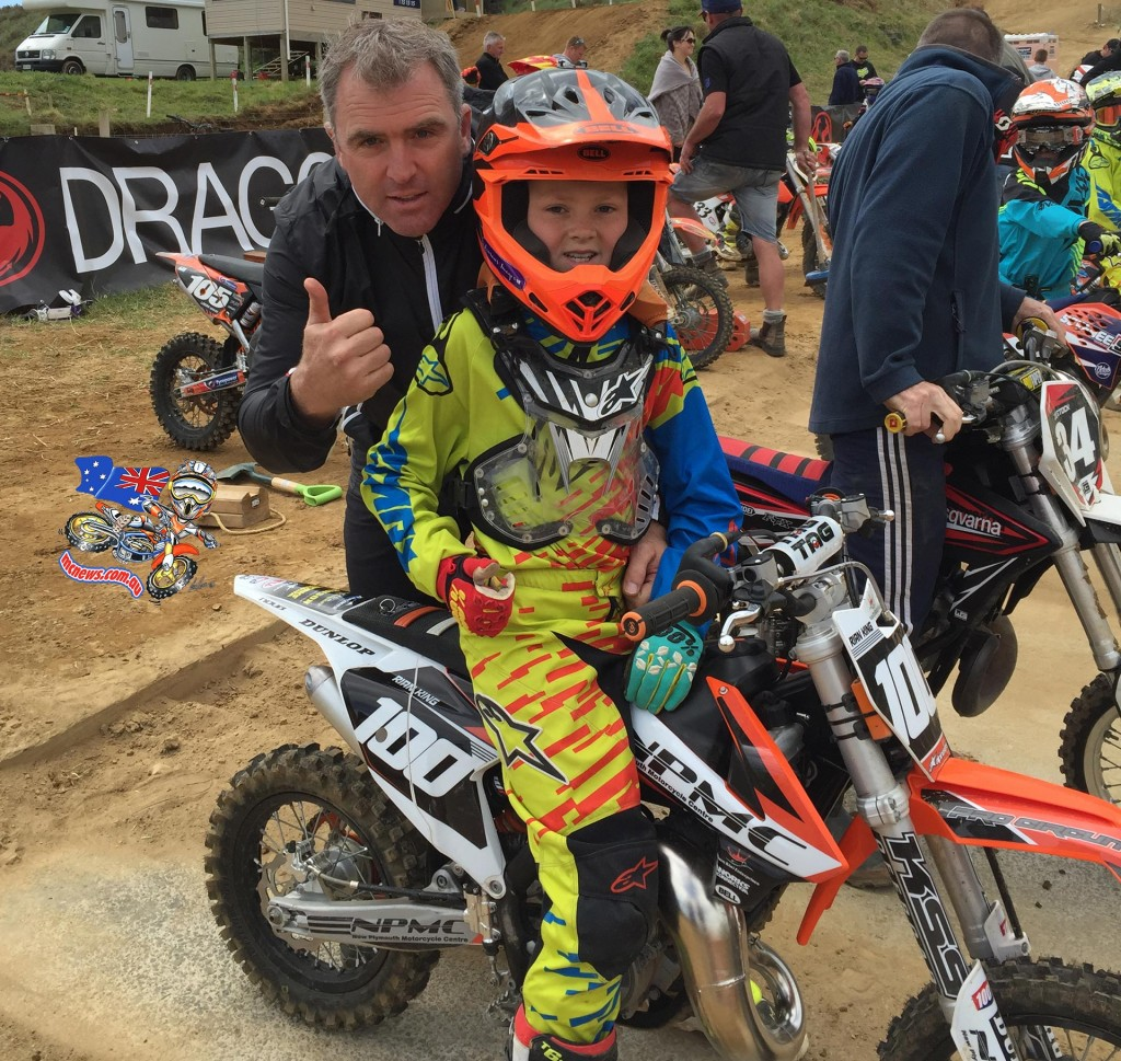 Rian King, the son of 1996 World 500cc Motocross Champion Shayne King