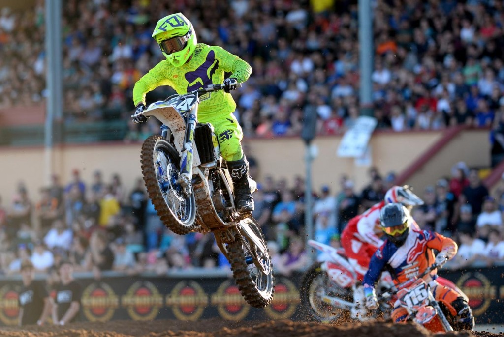 Home town rider Luke Arbon scored the holeshot