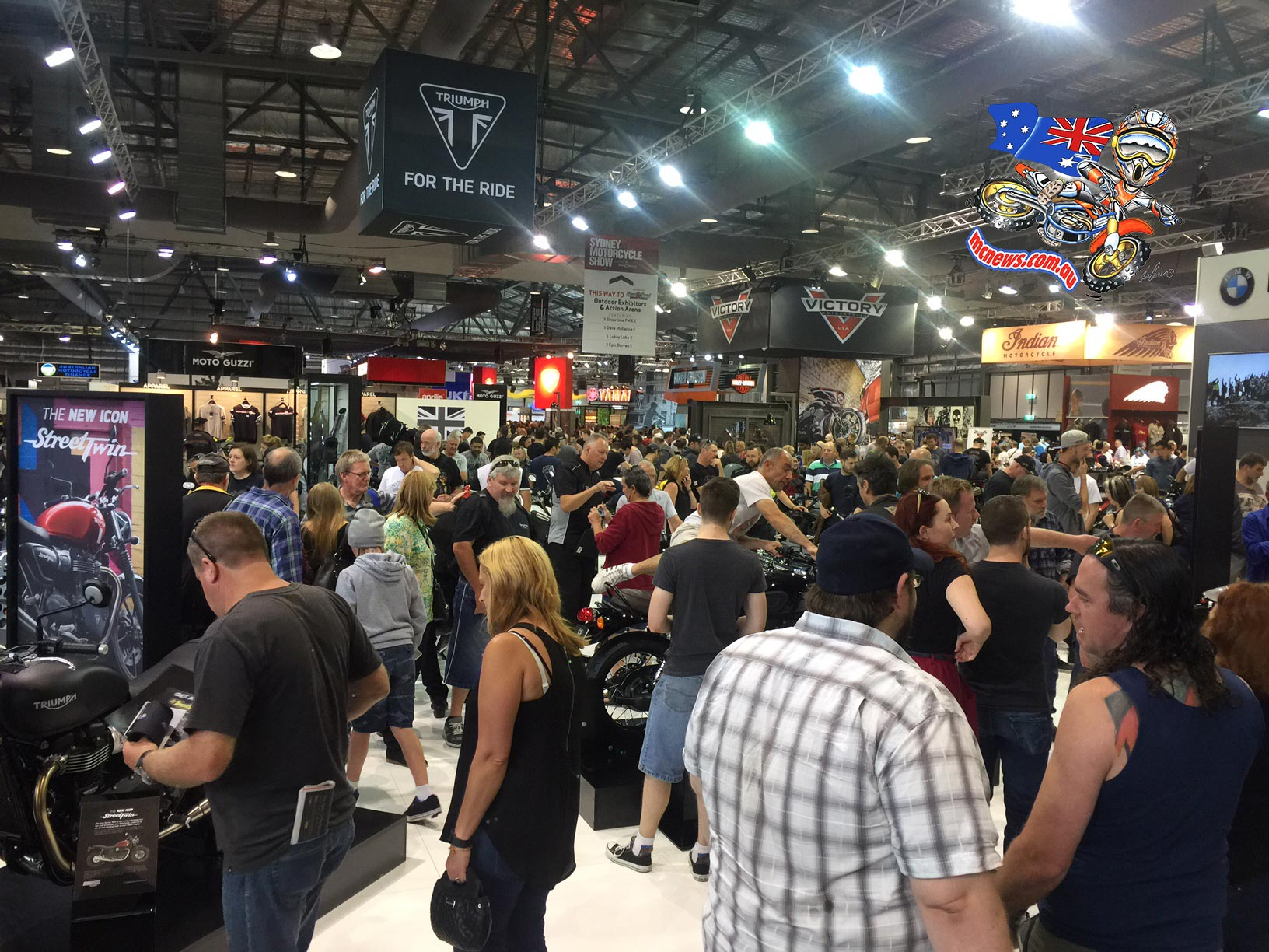 Over 24,000 motorcycle enthusiasts flocked to Sydney Olympic Park for the 2015 Sydney Motorcycle Show proudly presented by InsureMyRide last weekend.