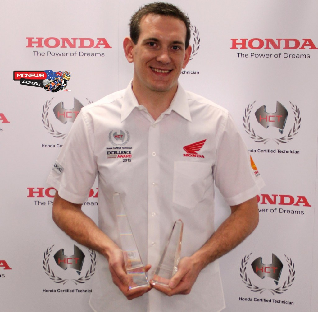 "Tom Ames ""I'm absolutely over the moon about taking the National Winner title of the Honda Certified Technician Excellence Award,"" said Ames."