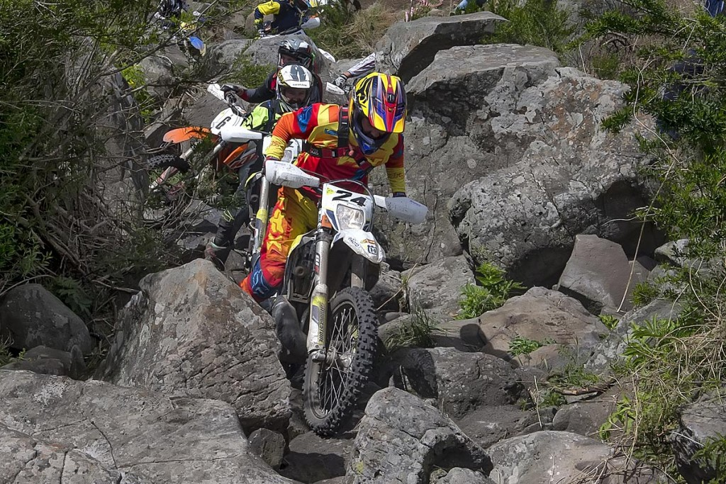 Husqvarna racer Mitch Harper executed an incredible podium finish in this year's Wildwood Rock Extreme Enduro. Mad Dog Images