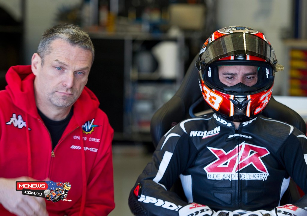 MV Agusta Reparto Corse, newly-appointed test rider Marco Melandri was on-hand.