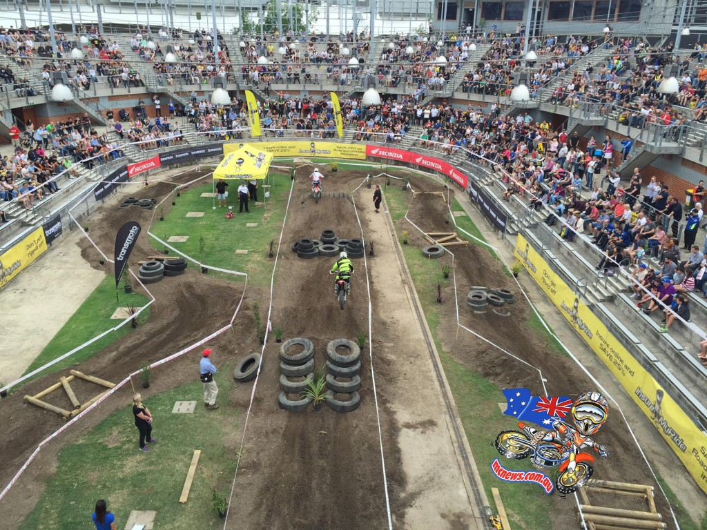 The Honda Motorcycle Head2Head EnduroCross was a popular feature with show visitors