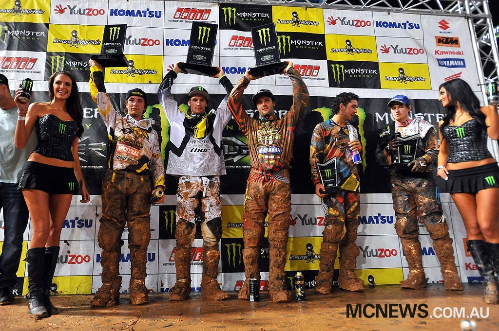2010 Super-X Finale - Brisbane - Podium - Image by Jeff Crow