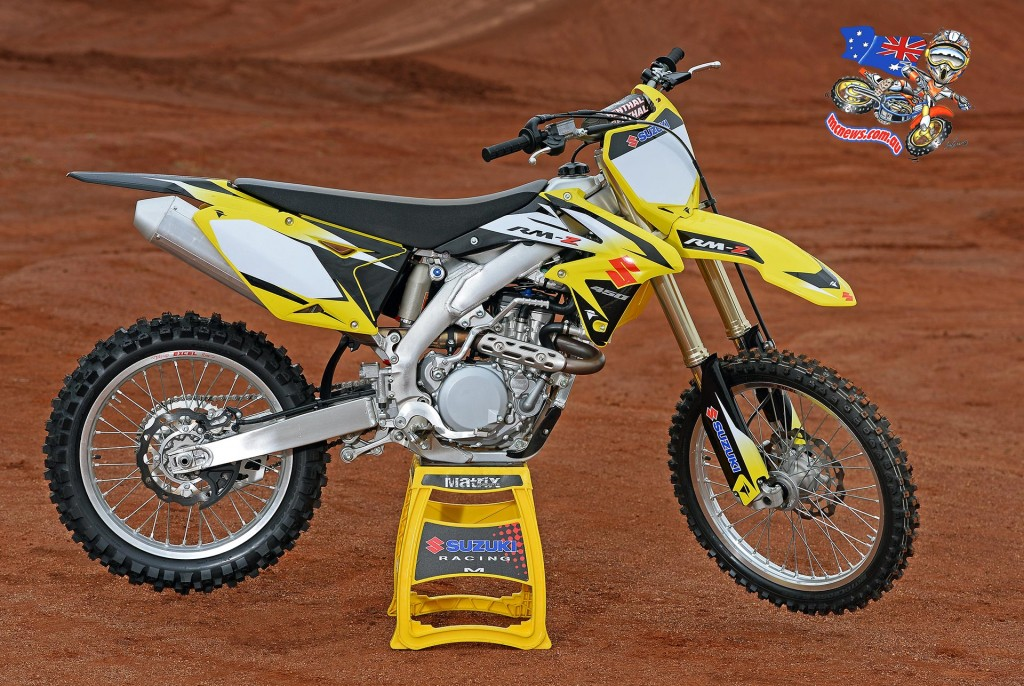 2016 Suzuki RM-Z450 with Factory RM-ZWS (Japan Works Special) inspired graphics kit