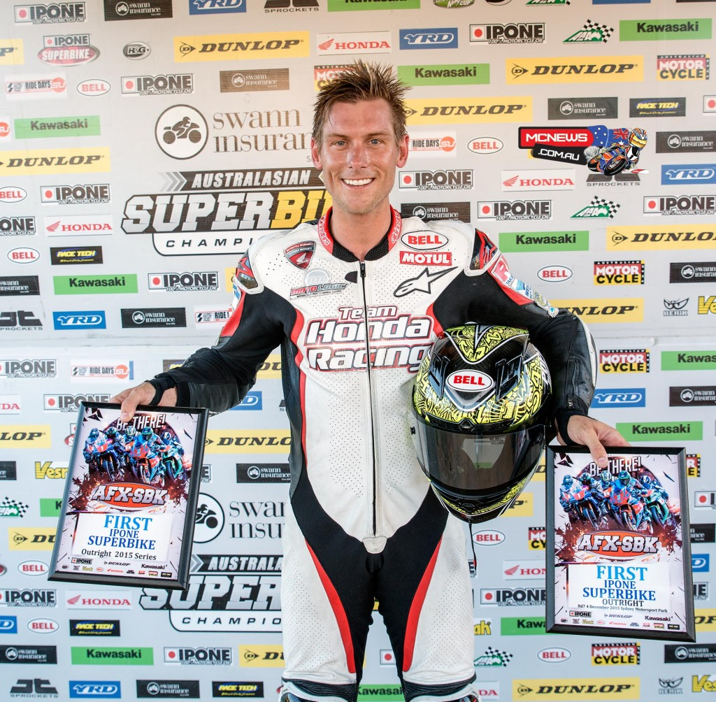 Troy Herfoss takes pole position and the point for pole heading into tomorrow's Swann Australasian Superbike Championship decider
