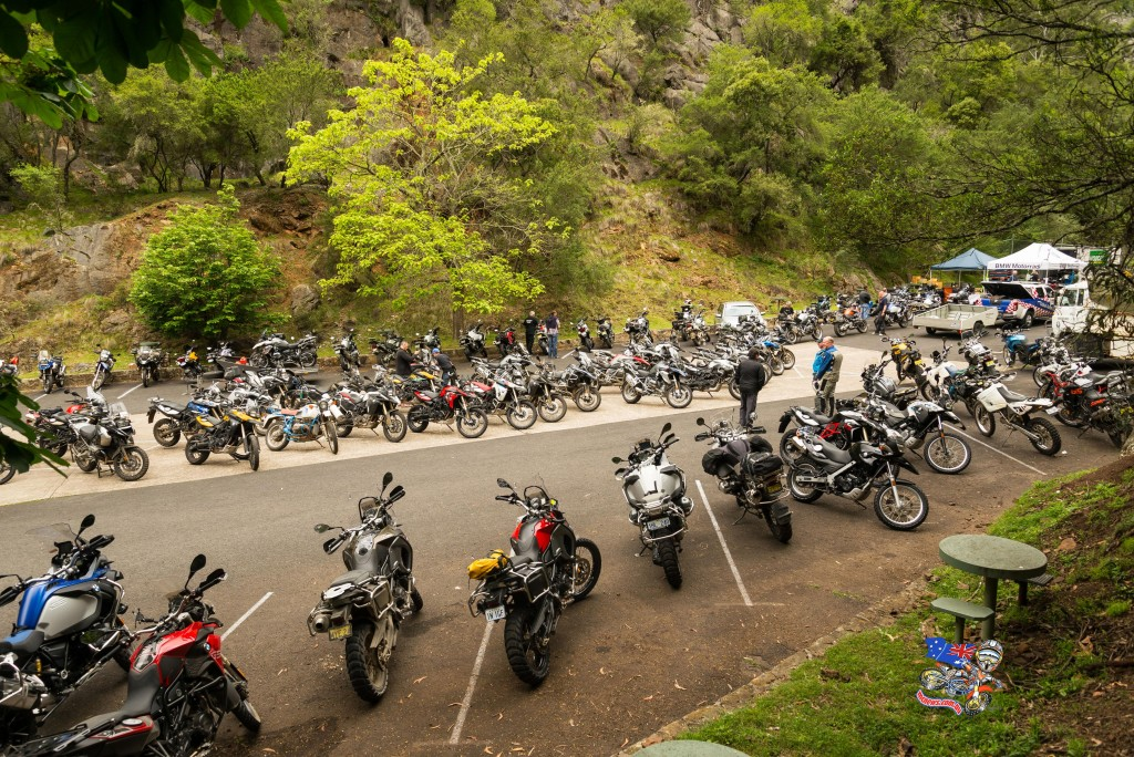 2015 BMW GS Safari saw 200 riders traversing the Blue Mountains National Park in NSW and Bairnsdale on the Victorian coast.