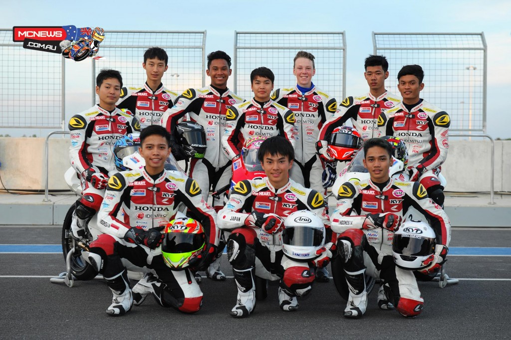 Broc Pearson and the riders selected to participate in 2015 Moto3 Test - Chang International Circuit - Biriram, Thailand - December, 2015