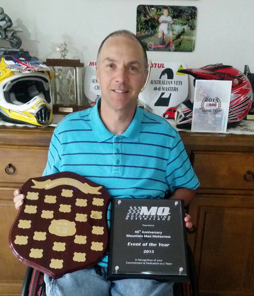 40th anniversary of the Mountain Man Motocross was awarded Event of the Year with Bryan Flemming accepting the trophy on behalf of all involved
