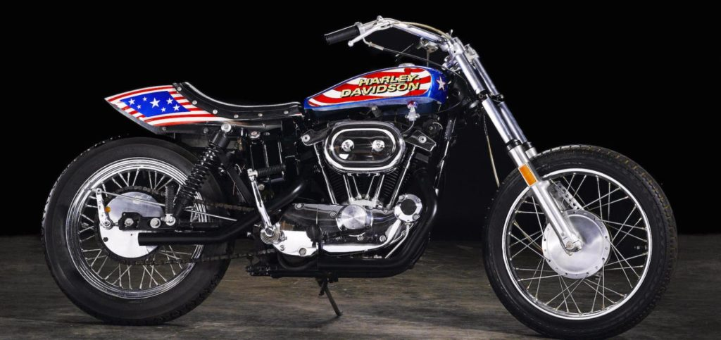 Evel Knievel Harley up for auction