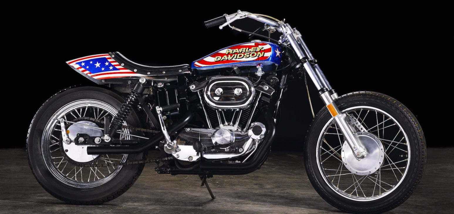 Evil Knievel Harley up for auction