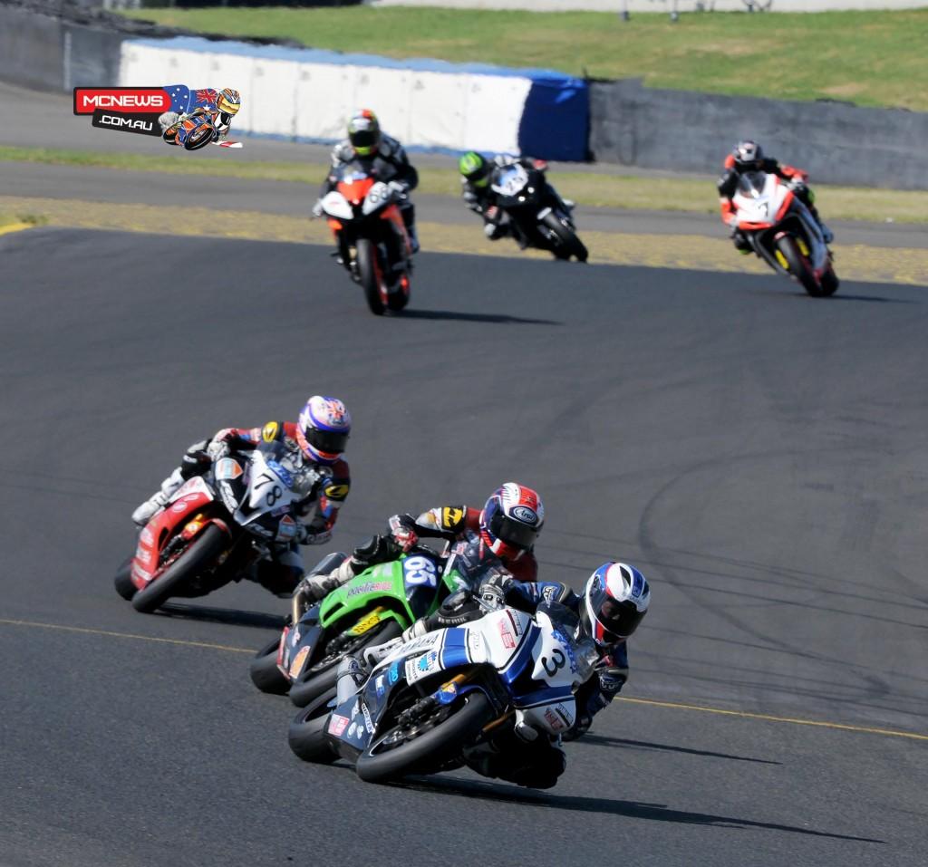Swann Australasian Superbike Championship 2015 - Sydney Motorsports Park Final - Callum Spriggs - Troy Guenther - Michael Blair