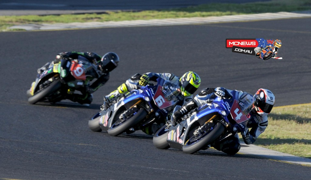 Swann Australasian Superbike Championship 2015 - Sydney Motorsports Park Final - Glenn Allerton - Cru Halliday - Mike Jones