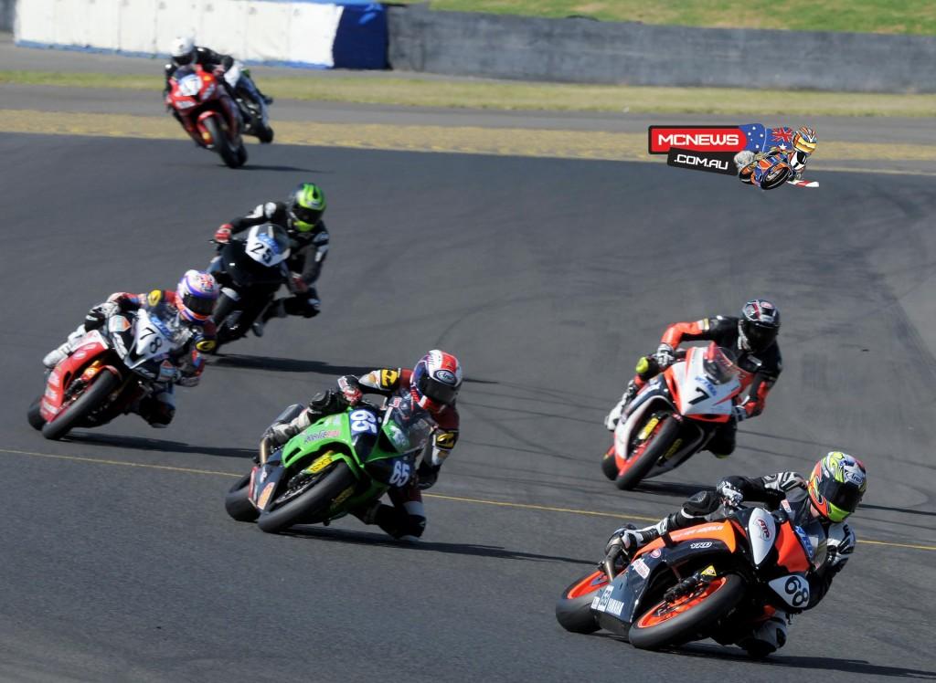 Swann Australasian Superbike Championship 2015 - Sydney Motorsports Park Final - Mitch Levy - Troy Guenther - Brayden Elliott