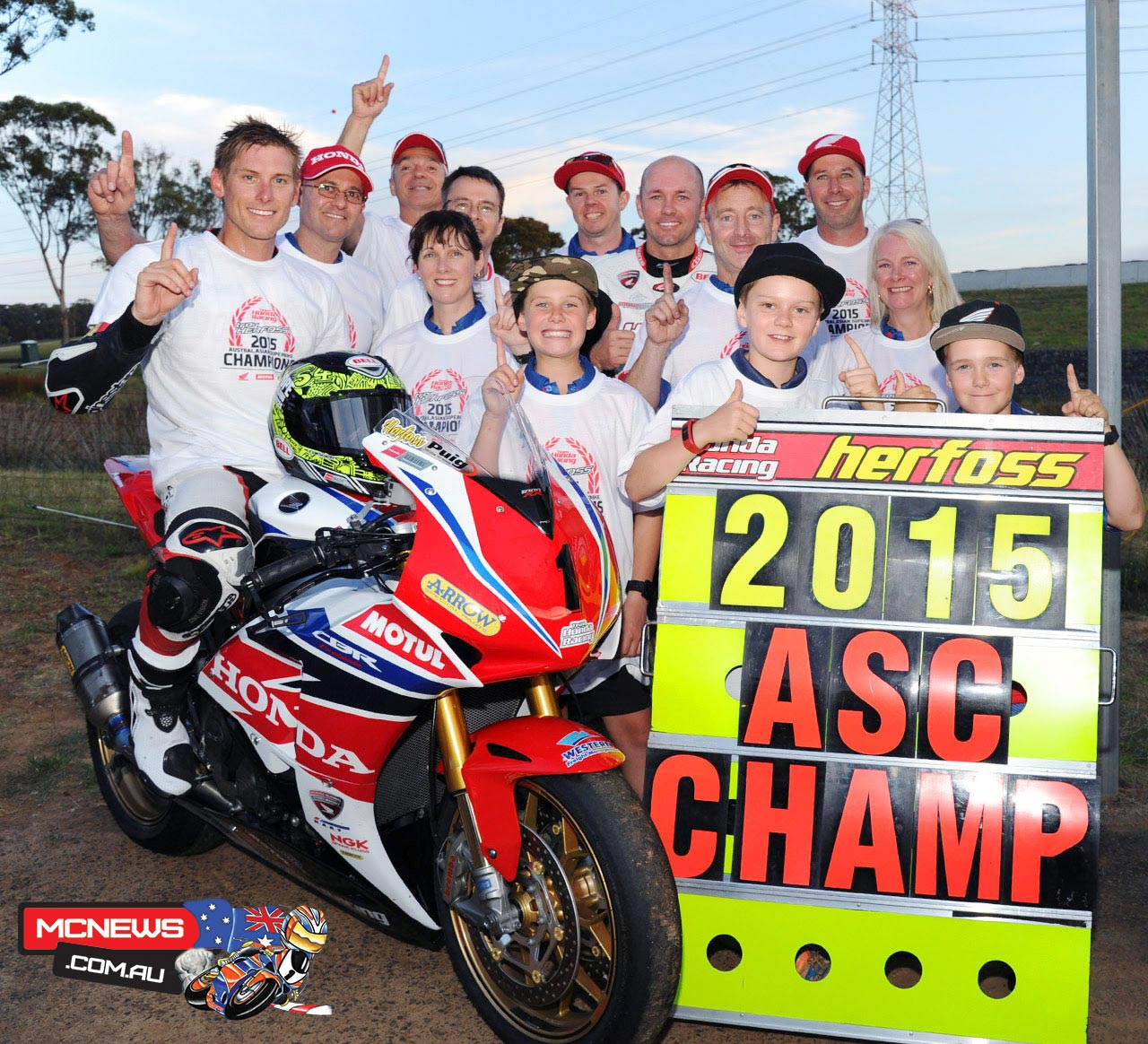 Troy Herfoss - 2015 Swann Insurance Australasian Superbike Champion and AFX-SBK Champion with Team Honda Racing