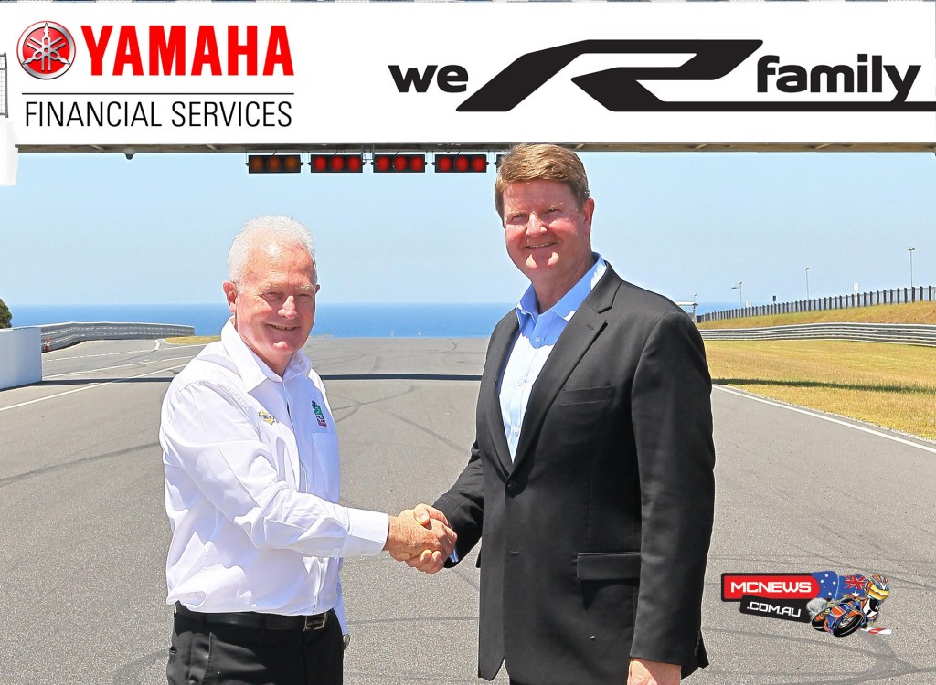 Phillip Island's Fergus Cameron with Brad Ryan, General Manager of Yamaha Motor Finance Australia
