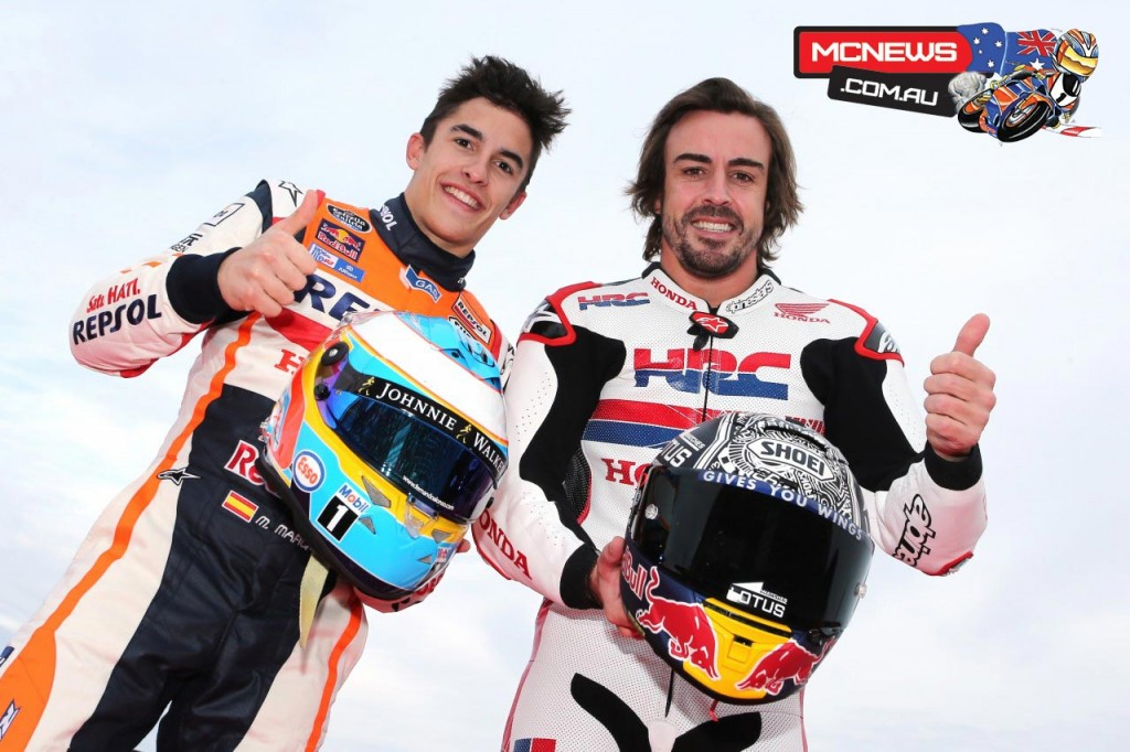 Honda-Racing-Thanks-Day-2015-Fernando-Alonso-Marc-Marquez