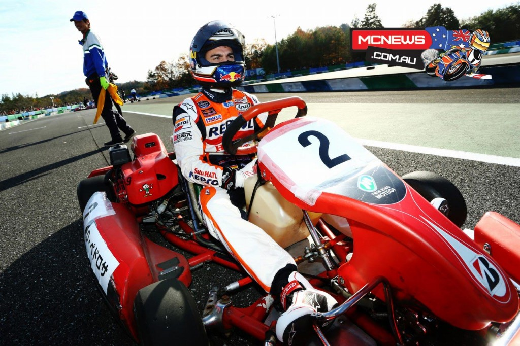 Honda Racing's Thanks Day  2015 began with a Kart race - Dani Pedrosa