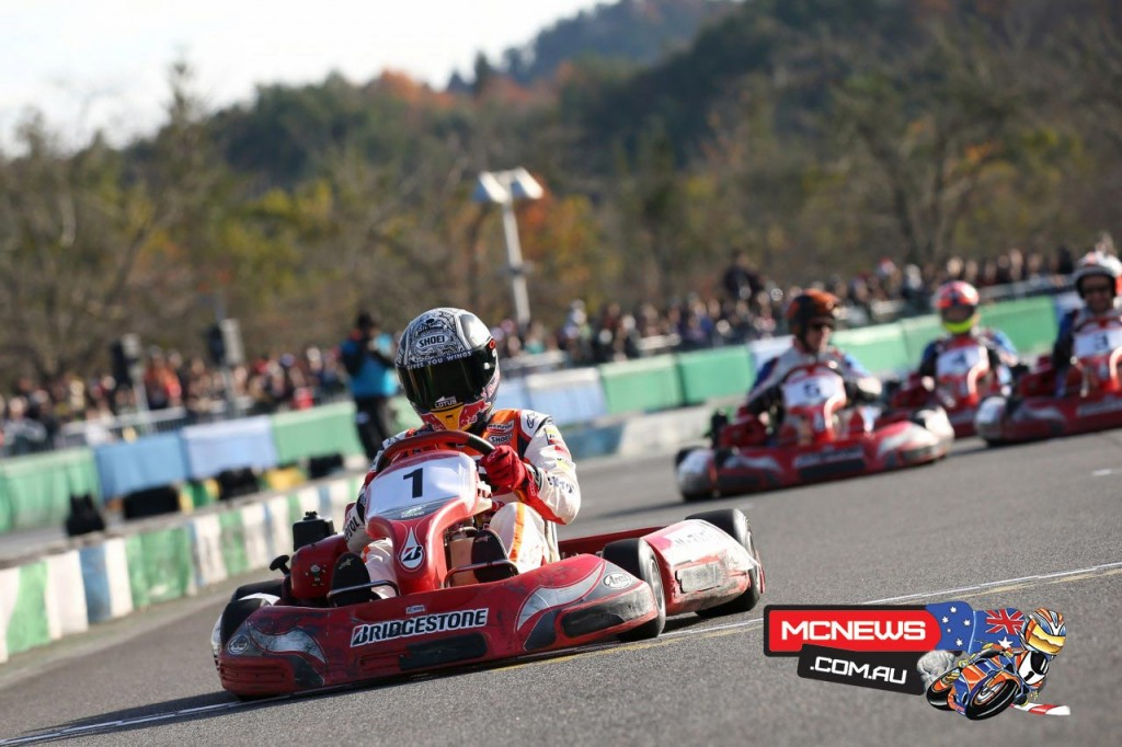 Honda Racing's Thanks Day  2015 began with a Kart race