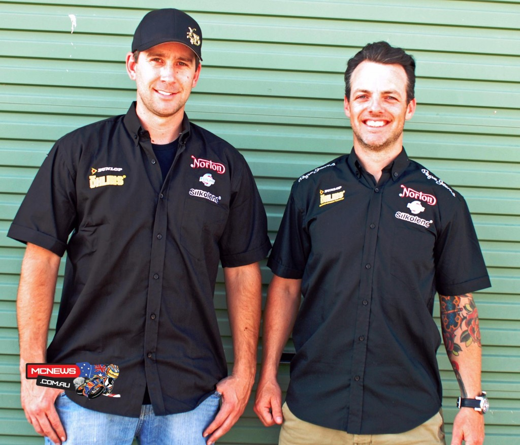 David Johnson (left) and Cameron Donald will ride as team mates for Norton in 2016