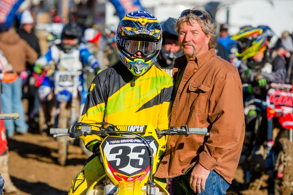 Josh Grant and his dad at the 18th running of The Day In The Dirt at Glen Helen