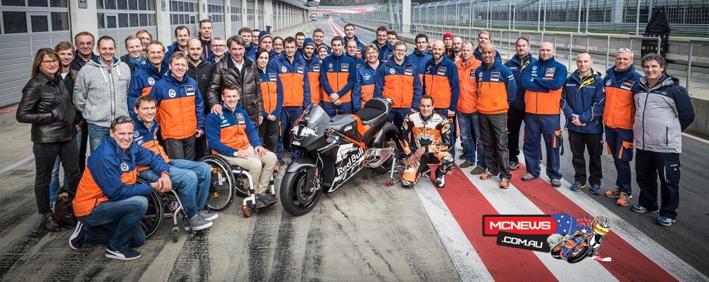 KTM MotoGP RC16 Test Team Red Bull Ring November 2015