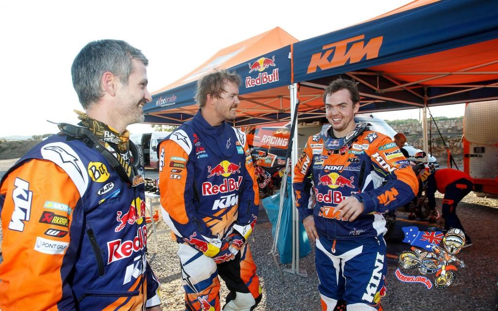 Jordi Viladoms, Toby Price, Matthias Walkner - 2016 KTM 450 Rally - KTM Rally Team